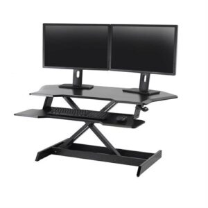 Ergotron WorkFit Corner Standing Desk Workstation – Black