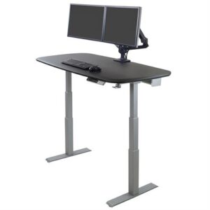 Ergotron WorkFit Electric Sit-Stand Desk (46-inch) – Black