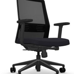 AMQ BODI BK1 – Black Meshback Chair + Adjustable Arms