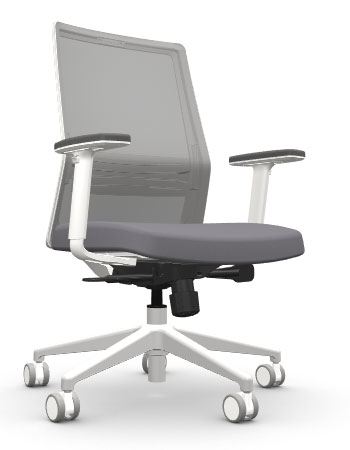 AMQ BODI LG1 – Grey Meshback Chair + Adjustable Arms