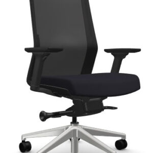 AMQ ZILO Z003 – Black Meshback Chair + Adjustable Arms