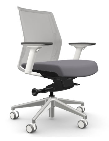 AMQ ZILO Z001 – Grey Meshback Chair + Adjustable Arms