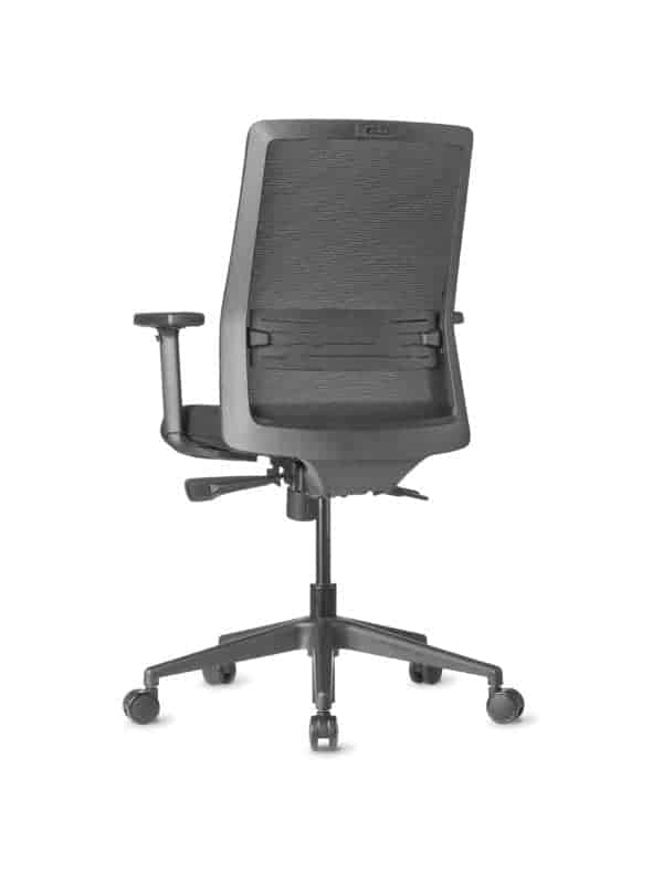 AMQ BODI BK1 – Black Meshback Chair + Adjustable Arms