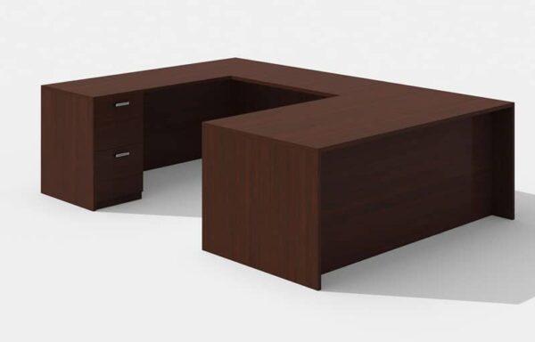 Elite Amber Straightfront U-Shaped Desk (Left Return) – 71 x 36 x 42