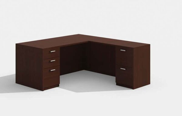 Elite Amber Straightfront L-Shaped Desk – 66 x 30 x 42
