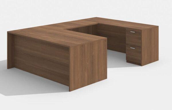 Elite Amber Straightfront U-Shaped Desk (Right Return) 71 x 30 x 42
