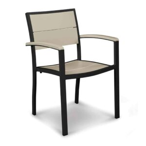 Fresco Nesting Dining Side Chair – Natural – With Arms