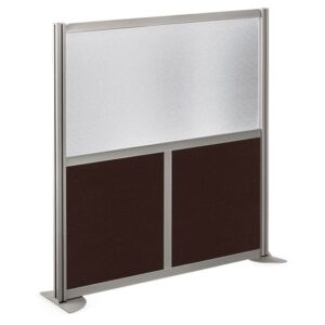 Room Divider – 49 x 53 – Laminate+Brushed Nickel Frame