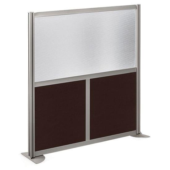 Room Divider – 49 x 53 – Laminate+Brushed Nickel Frame