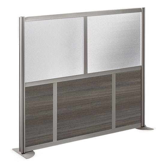 Room Divider – 61 x 53 – Laminate+Brushed Nickel Frame