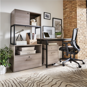 Compact Home Office Suite – Grey Laminate